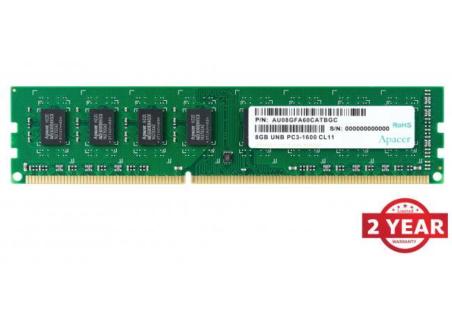 Apacer RAM U-DIMM PC DDR3 1600Mhz 8GB