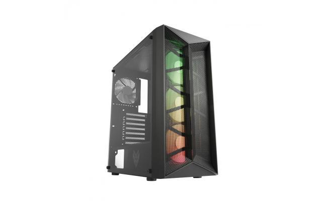 FSP CMT211 ARGB Tempered Glass Gaming Case (4xFAN)
