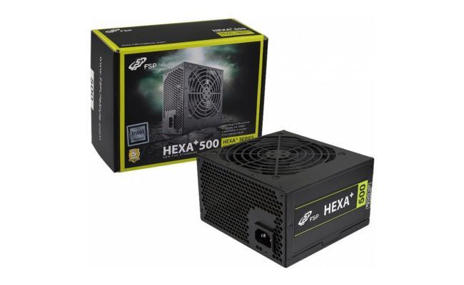 FSP HEXA+ 500W 80+ PSU ATX Power Supply