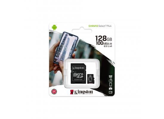 Kingston Canvas Select Plus microSD Card 128GB + SD Adapter