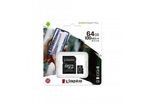 Kingston Canvas Select Plus microSD Card 64GB + SD Adapter