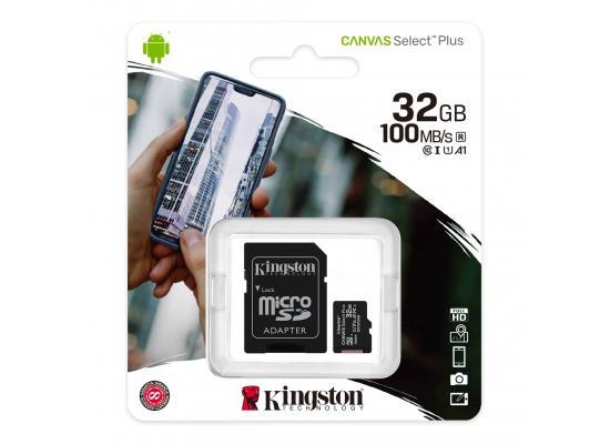 Kingston Canvas Select Plus microSD Card 32GB + SD Adapter