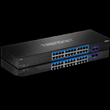 TRENDnet 24 port Gigabit Switch with 2*10G SFP + Slots