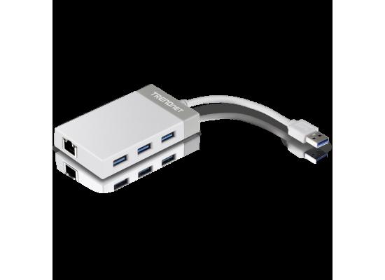 TRENDnet TU3-ETGH3 USB 3.0 to Gigabit LAN w/3 Ports USB 3.0 Hub