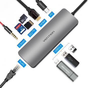 Vention Type-C to HDMI/3XUSB3.0/RJ45/TF/SD/Audio
