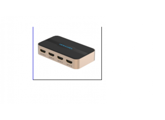 1 In 4 Out HDMI Splitter Black