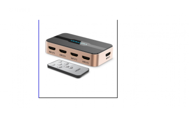 HDMI Switcher 5 In 1 Out Gold