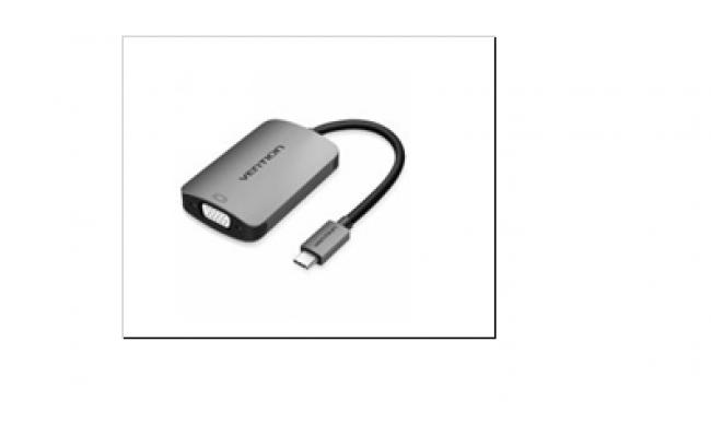 Type-C to HDMI/VGA Converter 0.1M Gray Metal Type