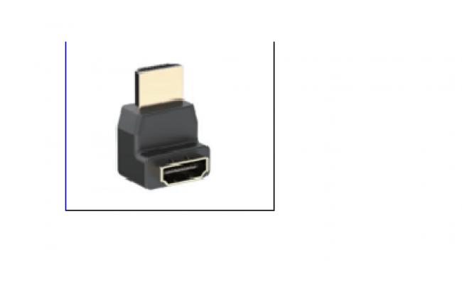 HDMI Male to HDMI Female Adapter Black