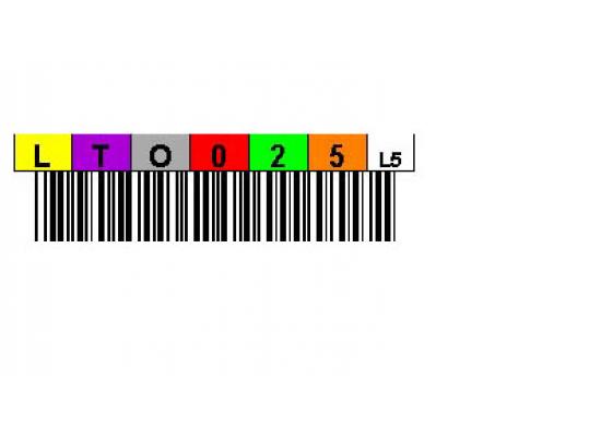 Labels for LTO5 Ultrium Media