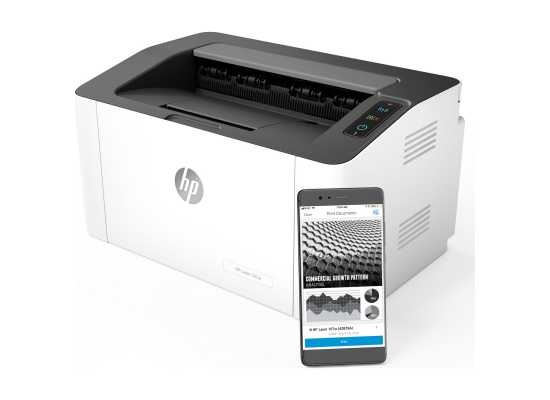 HP LaserJet 107w Laser Printer - Wireless