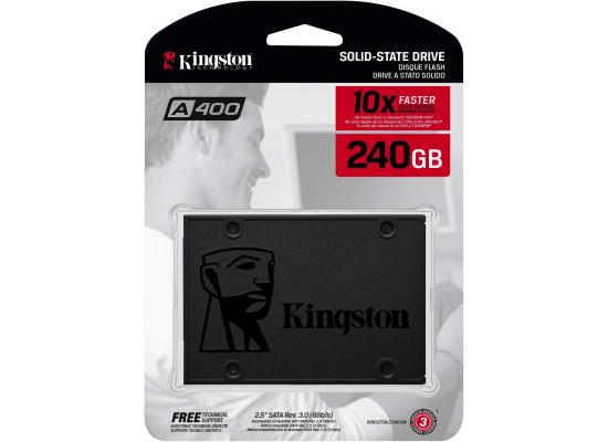 Kingston A400 SATA 3 SSD Solid State Laptop Internal Hard Drives / (SSD) 240G