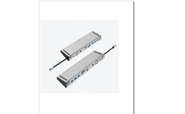 Type-C Male to USB3.0 Female A/HDMI Female A/VGA Female/RJ45 /SD/TF/3.5mm/PD Docking Station
