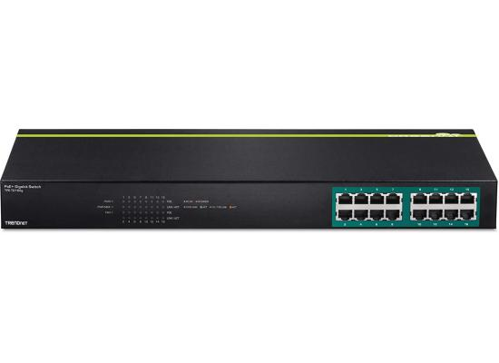 TRENDnet 16 Port Gigabit 10/100/1000Mbps PoE Switch
