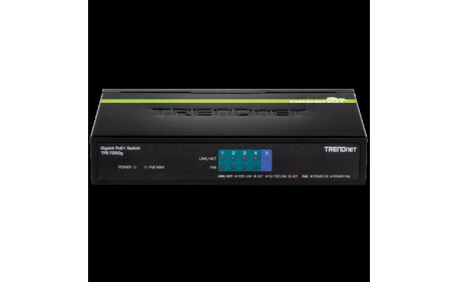 TRENDnet 5 Port Gigabit 10/100/1000Mbps PoE Switch