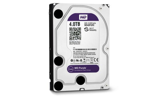 WD PURPLE SURVEILLANCE HARD DRIVE 4TB