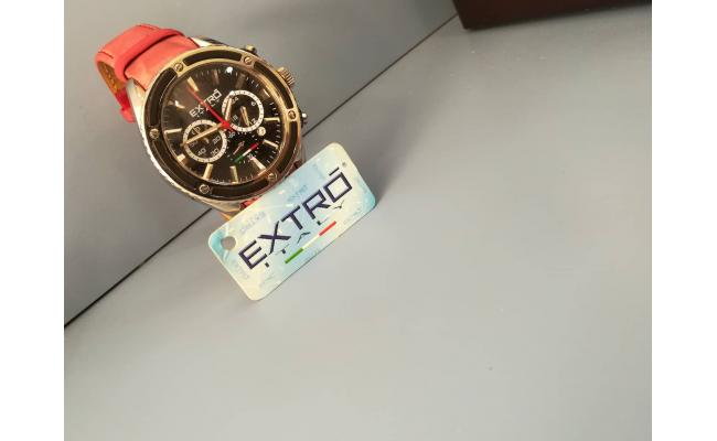 Extro Wrist Watch CHRONO RED SILICON