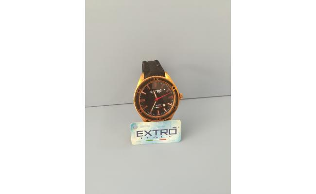 EXTRO Wrist Watch CORPER INDEX BLACK SILICON