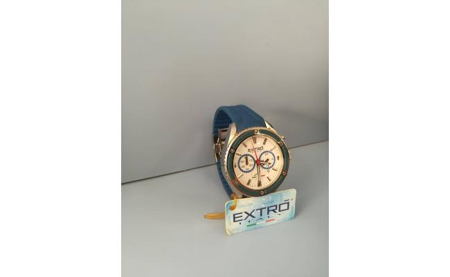 EXTRO Wrist Watch CHRONO  BLUE SILICON BAND