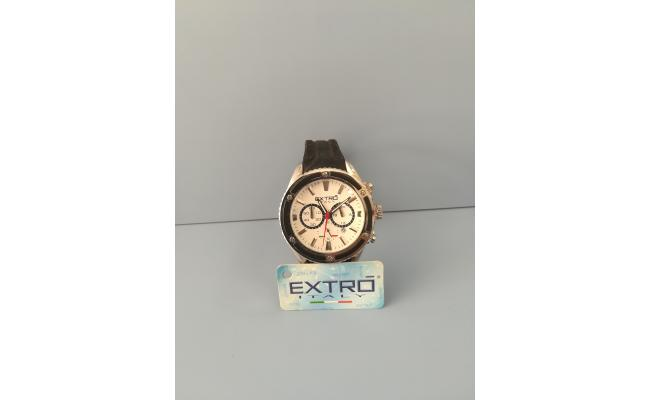 EXTRO Wrist Watch IDX/WHT EYES BLACK SILICON
