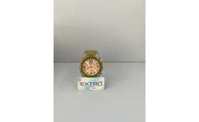EXTRO Wrist Watch DIAL ARB/FIG GREEN SILICON BAND