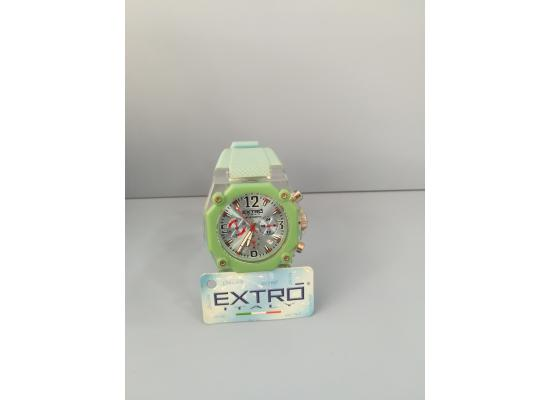 EXTRO Wrist Watch ARB/SILVER GRN SILICON