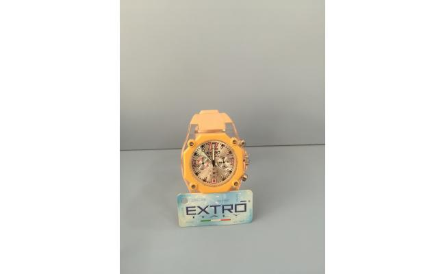 EXTRO Wrist Watch DIAL ARB/FIG PINK SILICON BAND