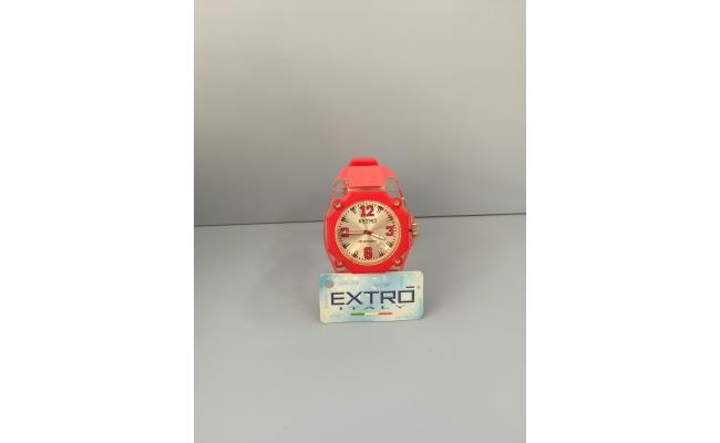 EXTRO Wrist Watch  DIAL ARB/FIG RED SILICON BAND