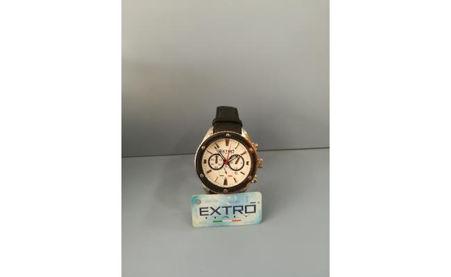 EXTRO Wrist Watch FIG BLK SILIC BAND