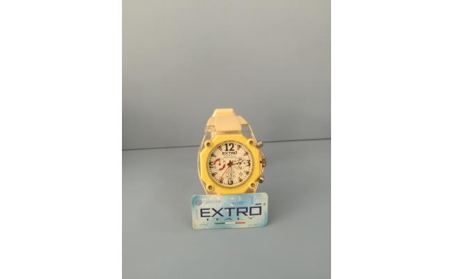 EXTRO Wrist Watch  DIAL ARB/FIG WHT SILICON BAND