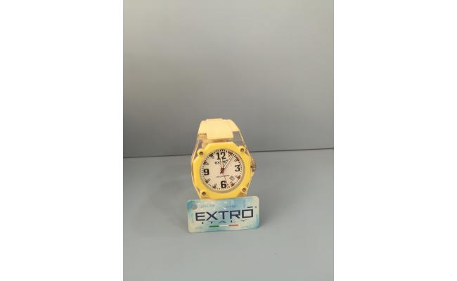 EXTRO Wrist Watch DIAL ARB/WHT SILICON