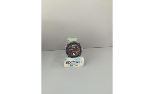 EXTRO Wrist Watch DIAL ARB/LT.BLU-LT.BLU SILIC