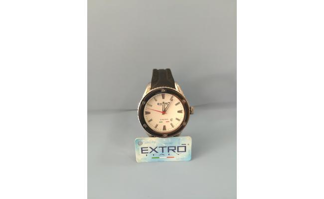 EXTRO Wrist Watch DIAL SILVER IDX BLACK SILICON