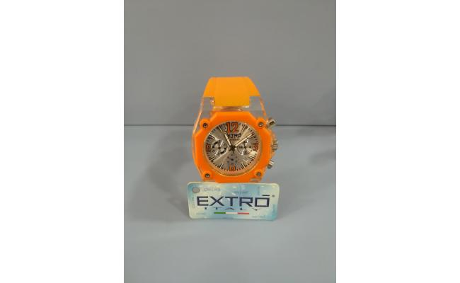 EXTRO Wrist Watch PLASTIC CASE ORANGE