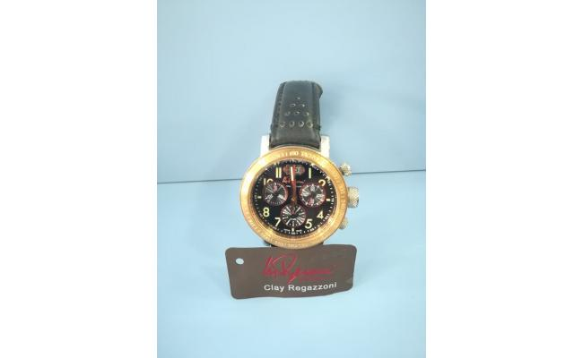 Clay Regazzoni Wrist Watch CHRONO FIG/BLK EYES BLK