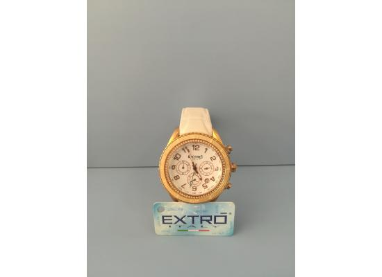 EXTRO Wrist Watch CASE STONE TOPRING WHT