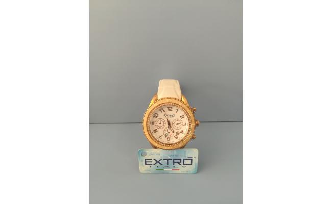 EXTRO Wrist Watch CASE STONE TOPRING WHT