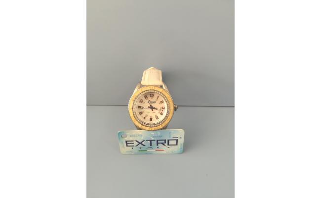 EXTRO Wrist Watch FIG WHITE SMOOTH LEATH STR