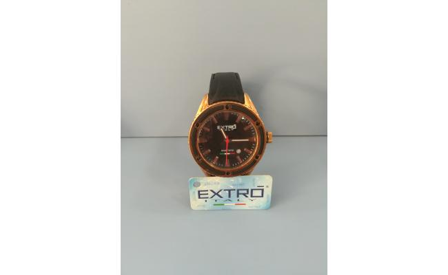 EXTRO Wrist Watch ROSEGOLD CASE BLACK DIAL