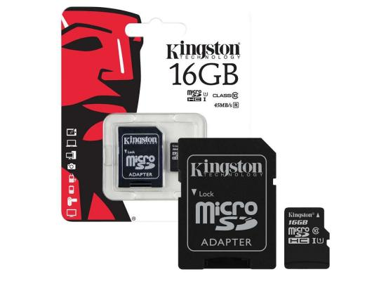Kingston microSD 16GB + SD Adapter