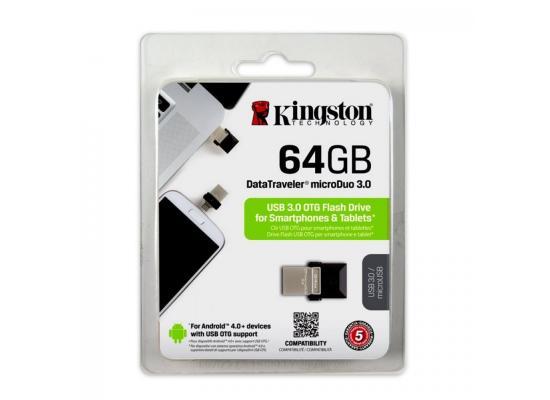 Kingston 64 DataTraveler microDuo USB 3.0 Flash Drive