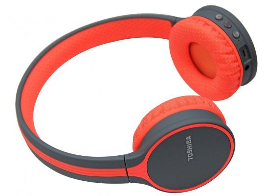 Toshiba Wireless Headphone Red