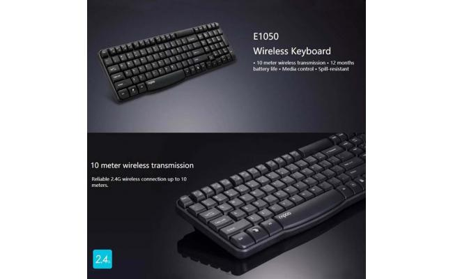 RAPOO KEYBOARD WIRELESS E1050