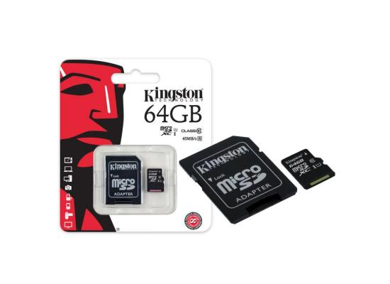 Kingston microSD 64GB + SD Adapter