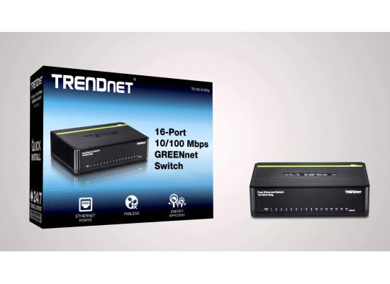 Trendnet 16-port 10/100Mbps N-Way Mini Green Switch