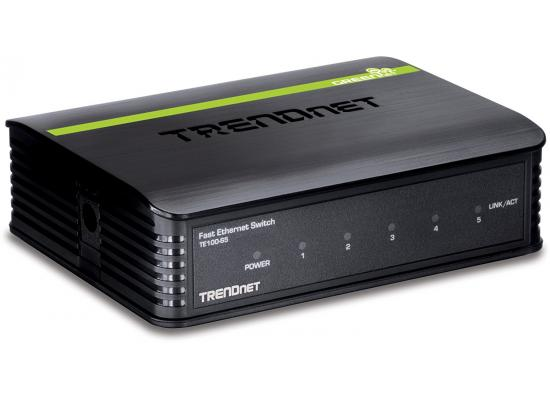Trendnet 5-port 10/100Mbps N-Way Mini Green Switch (Plastic Case)