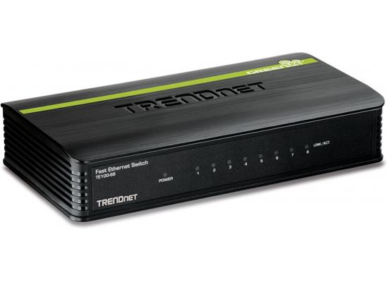 Trendnet 8-port 10/100Mbps N-Way Mini Green Switch (Plastic Case)