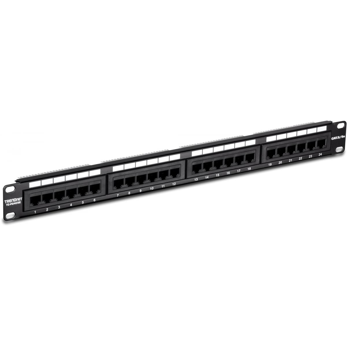 Trendnet Patch Panel Tc P24c5e Cat5 Smart Systems 568b Wiring