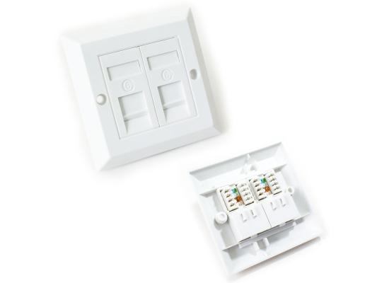 Eaglenet Face-plate White 7x7cm