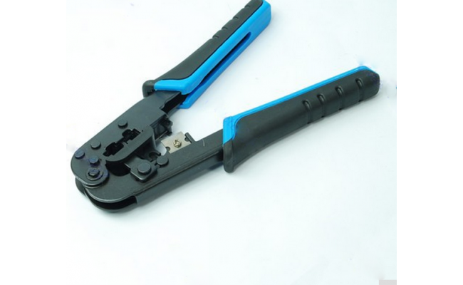 Dual Modular Crimps Cuts And Strips 2 Type Of Plugs In 1